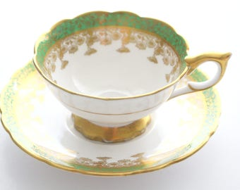 Vintage, English Bone China Tea Cup and Saucer by Royal Stafford, Scalloped Rim, High Tea Party, Gifts for Her, Replacement China