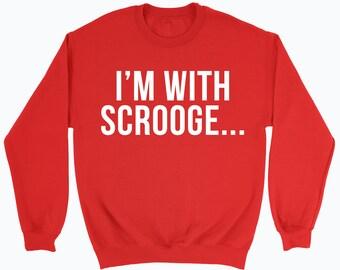 Christmas Sweater, Bah Humbug, Merry Christmas Sweatshirt, Scrooge Christmas Jumper, Xmas Sweater Top Shirt, Festive Jumper Gift Joke Gift