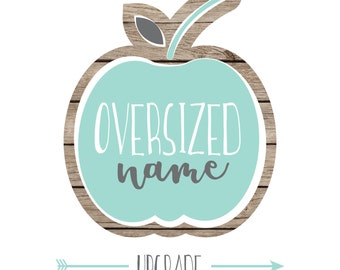 Listing Upgrade: Standard to Oversized Name