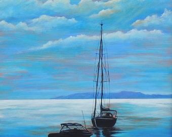 Seascape painting reproduction
