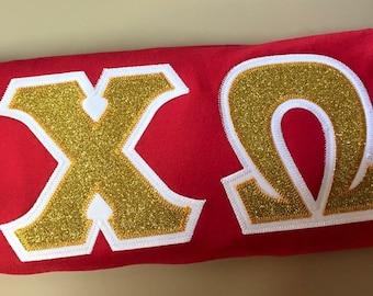 Greek Glitter Letter Shirt
