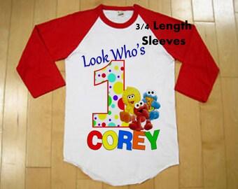 Sesame Street Birthday Shirt - Raglan Shirt Available - Sesame Street Babies