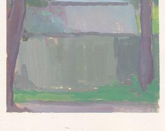 original painting / gouache landscape painting