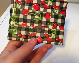 Cherry/Red/White duct tape bifold wallet
