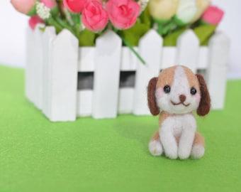Felted dog, Keychain,Wool dog,dog animal toy,Cute felt,Miniature dog,Cute Mini dog,Needle Felted dog,Miniature Doll