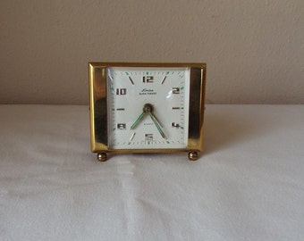 Linden Black Forest Vintage Brass Alarm Clock  made in West Germany - Works - small wind up