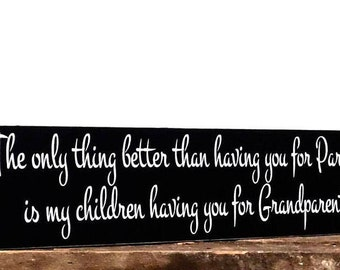 Anniversary Gift For Parents, The Only Thing Better Than Having You For Parents Wall Plaque, Mom And Dad Present, Rustic Wall Hanging