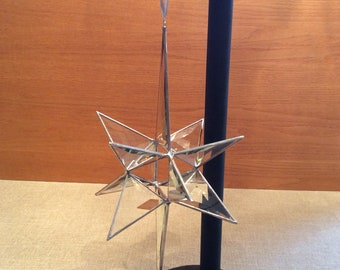 Moravian Star on Handmade Stand