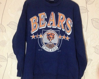 Vintage 90s Chicago Illinois NFL Bears Sweatshirt/Vintage Football Sweater/NFL
