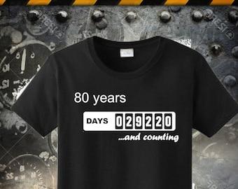 80th Birthday Tshirt Born In 1936 Made Dad Shirt Funny T Men Tee Humorous Grandpa 72