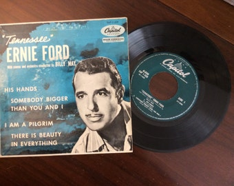 vintage Tunes ... TENNESEE ERNIE FORD 45 Record in Sleeve ...