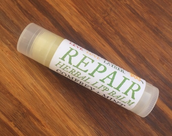 REPAIR Herbal Lip Balm - Jojoba, Almond, Macadamia Blend - Herbal Peppermint