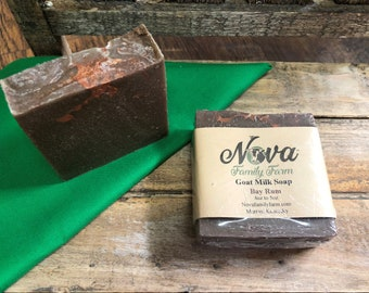 Bay Rum scented goat milk soap for men
