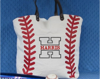 Baseball Mom Tote Bag, Monogrammed Baseball Tote Bag, Baseball Mom Gifts, Baseball Bag, Team Mom Baseball gift, Baseball Valentine Gift