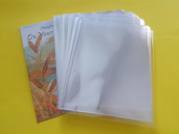 100 ( 4x4 ) Open Ended Cello Bags Non Sealing Cello Bags