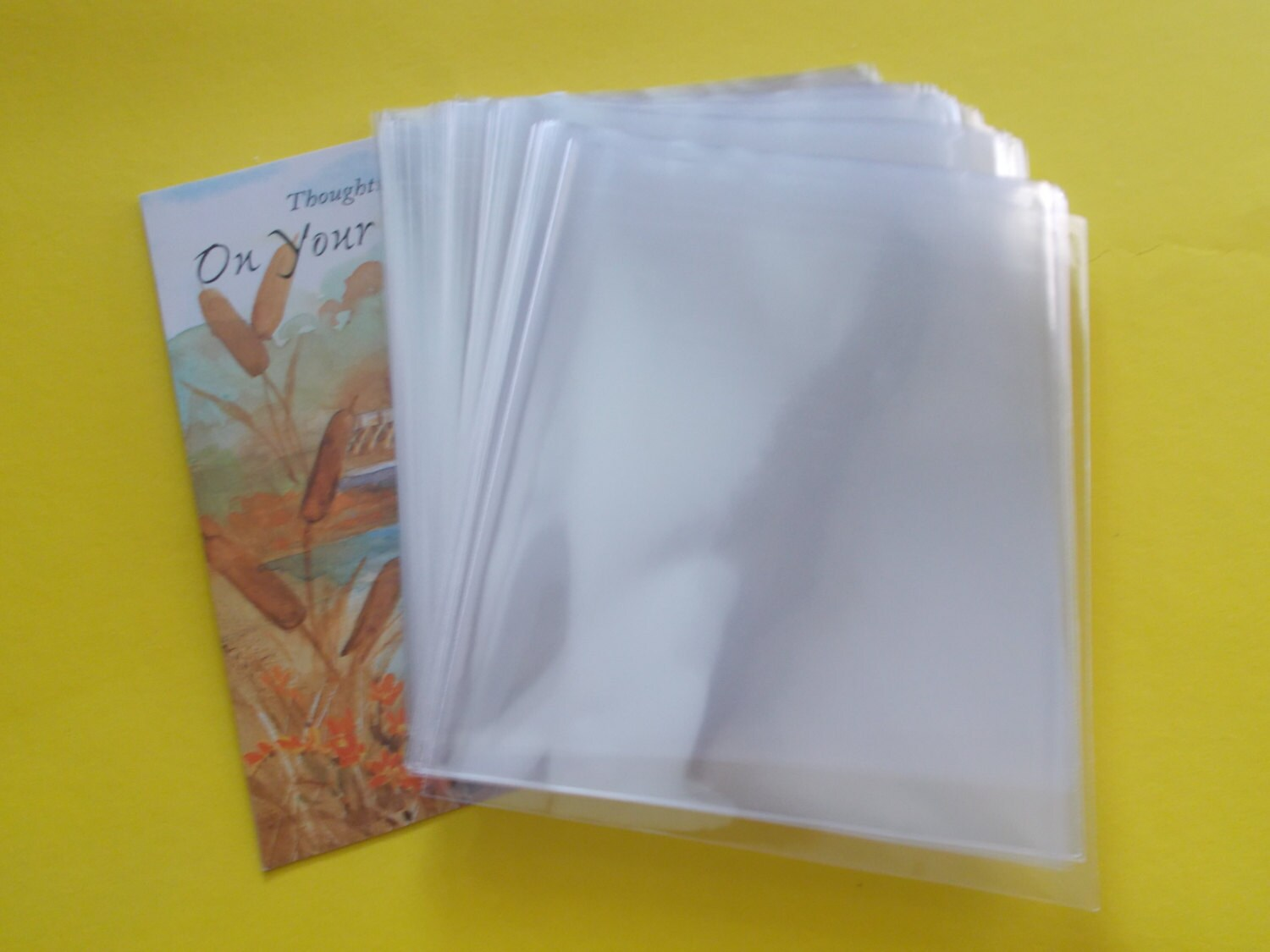 No flap cello bags fits a2 card envelope 4 58 x 5 zoom kristyandbryce Gallery