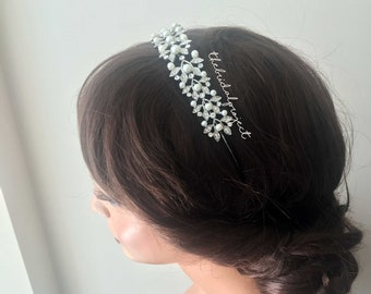 Bridal Headband, Wedding headband, Rhinestone Headband, Bridal Rhinestone Headband, Bridal Hair Accessories, Bridal Hair Piece, Wedding Hair