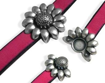 Antique Silver Magnetic Bracelet Clasp (ZM11670)