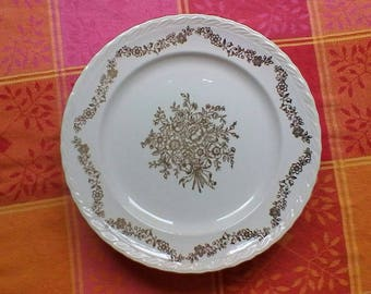 "6 Dinner Plates - Vintage French ""Bouquet"" set of plates"
