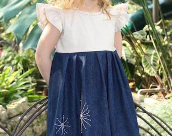 Hand embroidered dress,Little Girl Dresses, Baby Girl Dresses, Easter Dresses for Girls, Handmade, Spring Dress, Girls Dresses, Girl Toddler