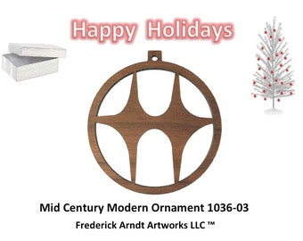 1036-3 Mid Century Modern Christmas Ornament