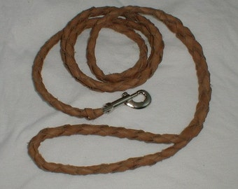 6 foot Braided Leather Leash SKU BRL-02