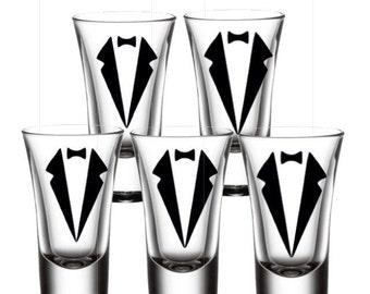 Groom Party Glasses - Custom Glasses - Bachelor Party Shot Glass - Best Man Glasses - Groomsman Gift- Shot Glass Gift