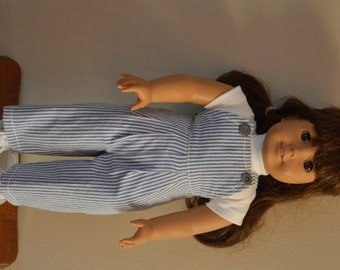 Overalls and t-shirt for American girl doll