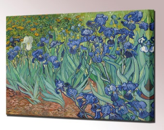 Van Gogh Irises Canvas Print Home Decor Vincent van Gogh Wall Decor Painting Ready To Hang