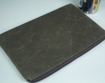 "Waxed Canvas - The New 13"" or 15"" MacBook Pro, 13"" or 15"" MBP Older Model/13"" or 15"" MBP Retina Display, 13""/15"" Dell XPS Sleeve Case"
