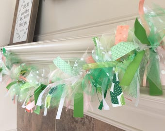 Cactus Party Garland - Succulent Ribbon Banner Engagement Wedding Ribbon Banner Birthday Party Decorations Bridal Shower Fabric Decor