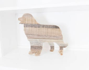 Bernese Mountain Dog, Farmhouse Decor, Rustic Home Decor, Dog Gift, Kitchen Decor, Reclaimed Wood Art, Country Decor, Dog Silhouette