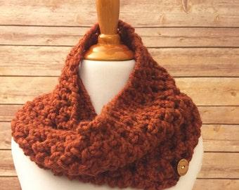 Chunky Cowl Scarf - Cowl Neck - Crochet Cowl