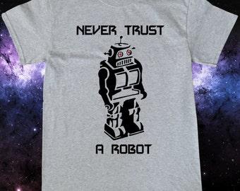 Evil Robot Old School Robot Sci Fi T-Shirt