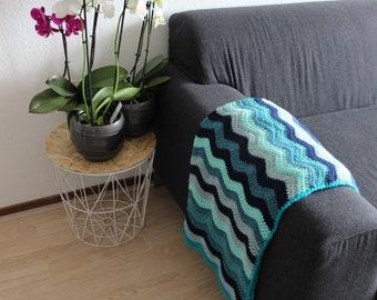 Colored waves baby blanket, Crochet blanket, Baby play blanket, Stroller blanket, Baby shower gift