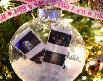 ultrasound ornament-newborn ornament-newborn keepsake-babys first christmas ornament- hospital hat-hospital ornament