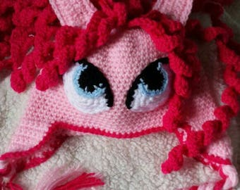 Crochet Pink Pony Hat