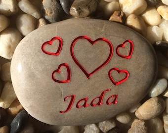 Heart - Customized Engraved Stone