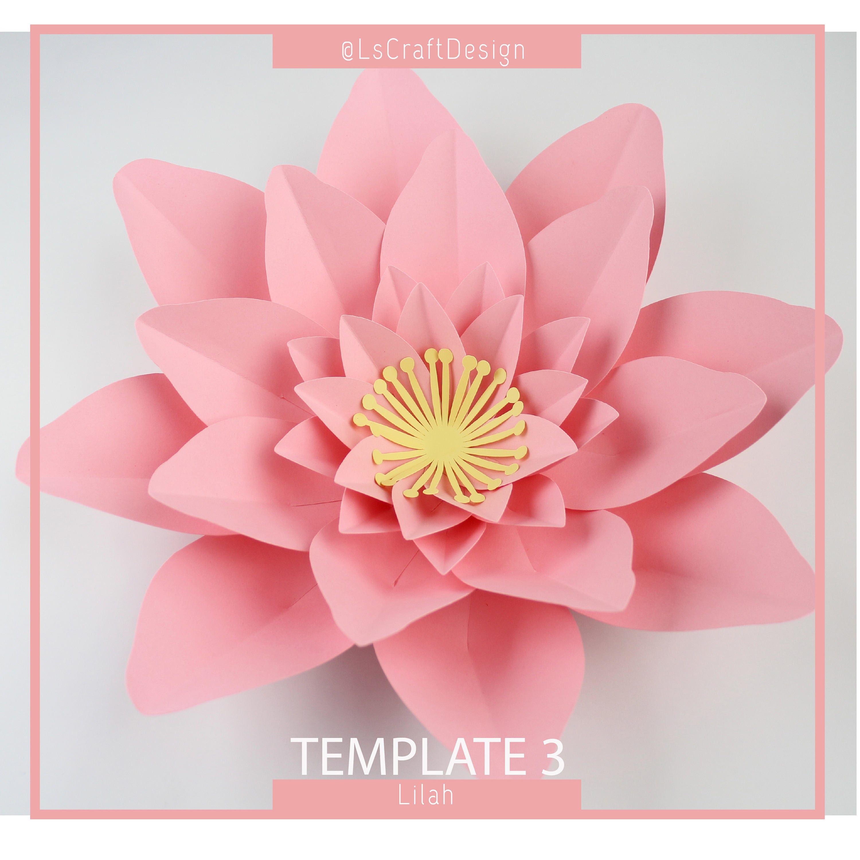 Paper lotus flower template image collections flower decoration ideas paper flower template pdf paper flower diy paper flower giant this is a digital file mightylinksfo mightylinksfo