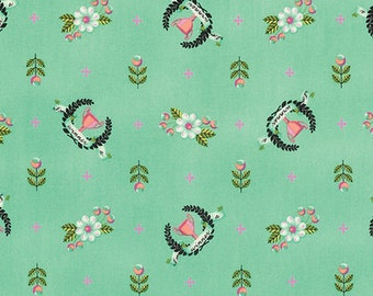 Trophy Fabric - Slow and Steady by Tula Pink for Free Spirit - Winner's Circle in Strawberry Kiwi - Fabric By the Half Yard
