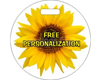 Sunflower Flower Personalized Luggage Bag Tag