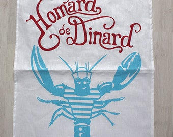 Lobster de Dinard 100% linen Tea towel