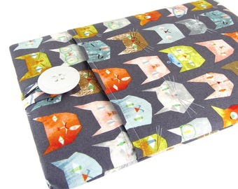 """Women's Laptop Sleeve 15.6"""" - Custom Sized To Your 15 Inch Laptop - Padded With Pocket, Smarty Cat Fabric"""