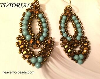 """Tutorial for beaded earrings """"Esmeralda"""""""