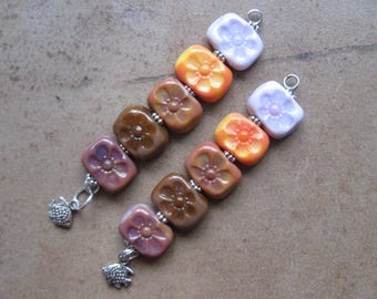 Lampwork Beads - SueBeads - Chicklet Beads - Chicklet - Chicklet Bead Set - Glass Bead Set - Handmade Lampwork Beads - SRA M67