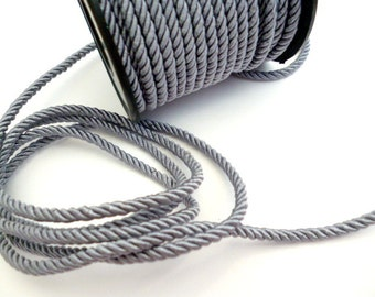 3 mm Gray President Braided cord_PP05456741_Cords of 3 mm_ Gray President_10 METERS_33 FT