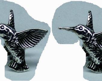 Hummingbird Stud Earrings Sterling Silver Free Shipping