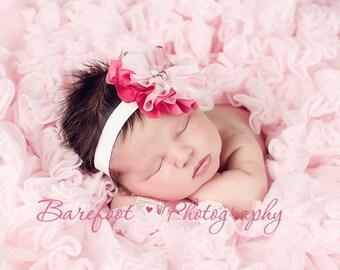 baby headband, newborn headbands, pink headband, infant
