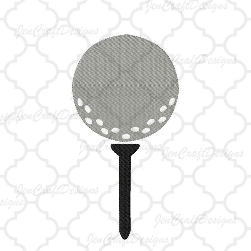 Golf Ball on Tee Embroidery Design, Instant Download digital file in ...
