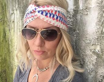 Jersey headband Jersey twist headband Yoga headband Coachella Boho headband Boho head wrap Turban Jersey headband